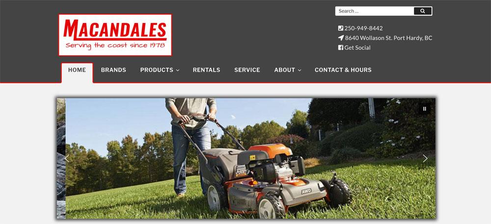 Macandales homepage