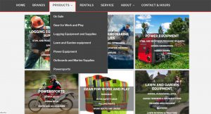 Products page of macandales.com website, created by your Qualicum Beach Web Designer