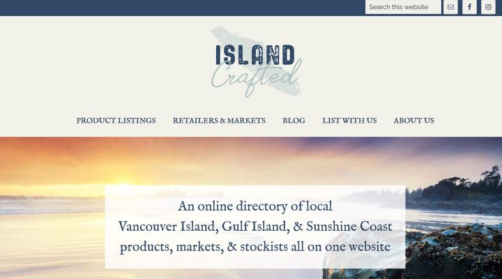screenshot of website designed by Vancouver Island web designer in Qualicum Beach Paradise West