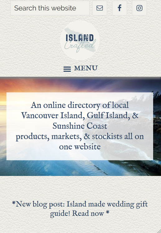 mobile friendly website designed by Vancouver Island web designer Paradise West