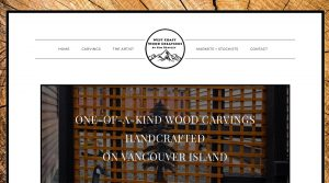 screenshot of West Coast Wood Creations, designed by Qualicum Beach/Parksville Web Designer Paradise West